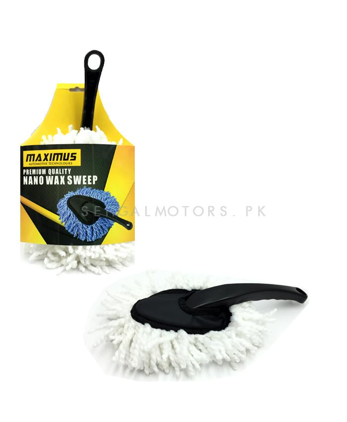 Maximus Premium Nano Wax Sweep White - MX-NWS001 | Car Cleaner Brush | Dust Cleaner | Duster | Car Care Gadget | Microfiber Wet & Dry Use Duster-SehgalMotors.Pk