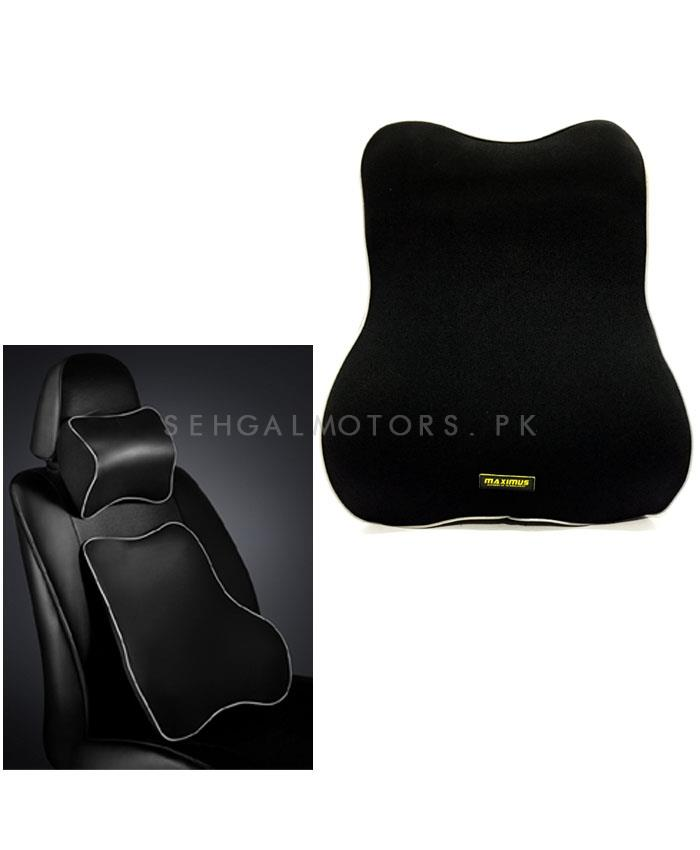Maximus Back Rest Cushion Black-SehgalMotors.Pk