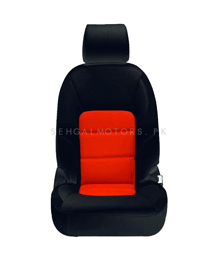 Honda City Seat Covers Black Orange Design 2 - Model 2015-2017-SehgalMotors.Pk