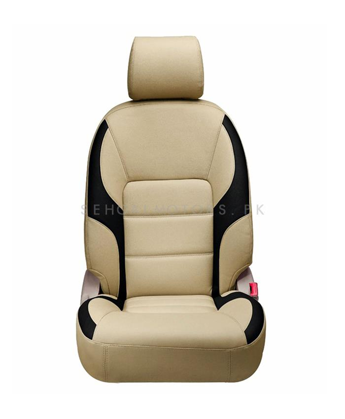 buy toyota corolla seat cover beige black model 2014 2017 in pakistan. Black Bedroom Furniture Sets. Home Design Ideas