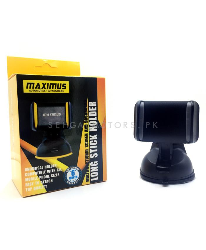 Maximus Dashboard Mouth Mobile Holder Black | Phone Holder | Mobile Holder | Car Cell Mobile Phone Holder Stand -SehgalMotors.Pk