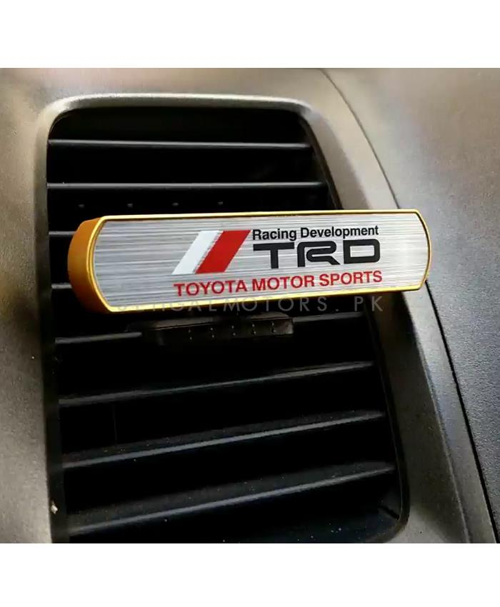 TRD High Performance AC Grill Car Perfume Fragrance Gold Color-SehgalMotors.Pk