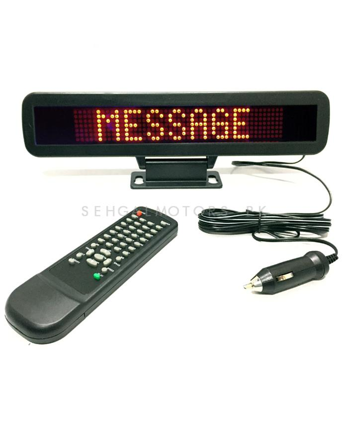 LED Scrolling Message Display Small 12V-SehgalMotors.Pk