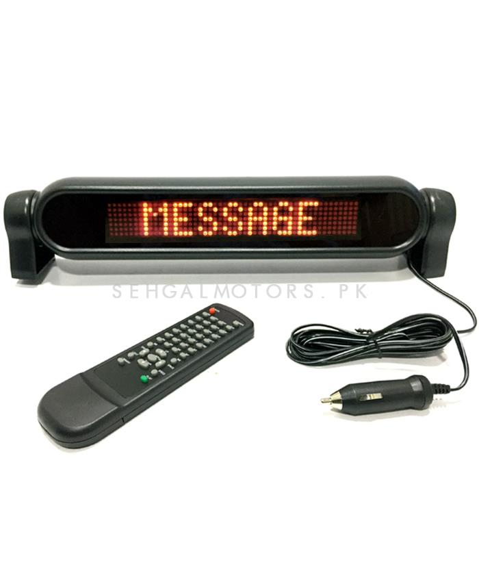 LED Scrolling Message Display Large 12V-SehgalMotors.Pk