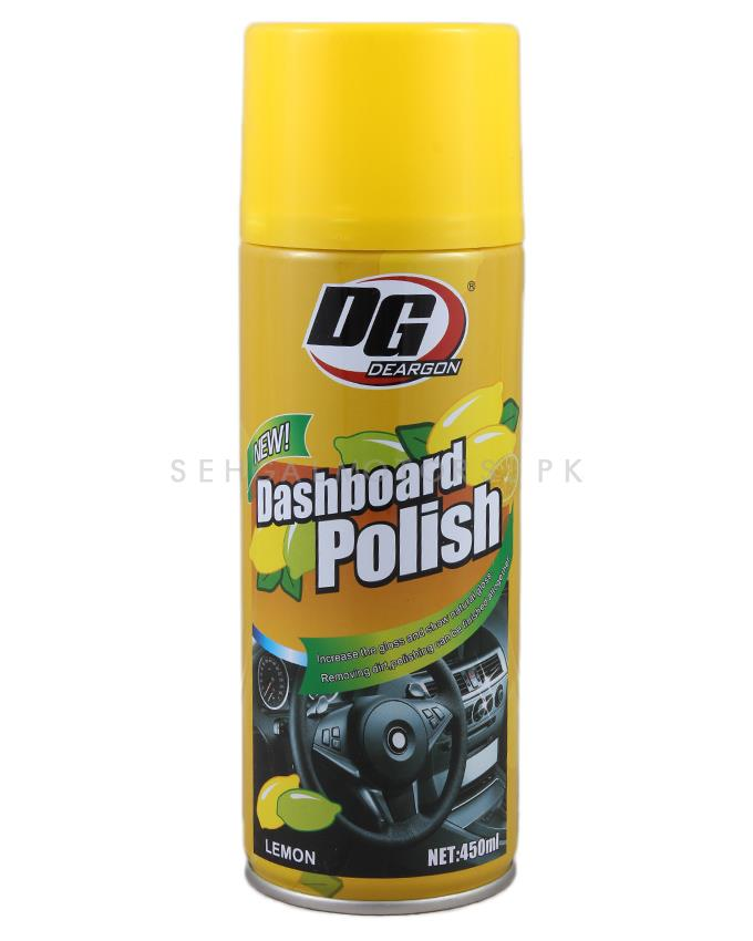 DG Lemon Dashboard Polish | Dashboard Cleaner | Interior Cleaner Polish For Dashboard | Automobile Panel Dashboard Wax Cleaner-SehgalMotors.Pk