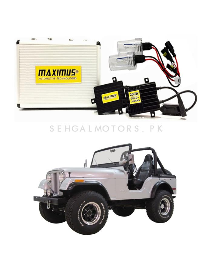 Jeep CJ-5 Maximus 200W HID 6000 Lumens - Model 1954 - 1983-SehgalMotors.Pk
