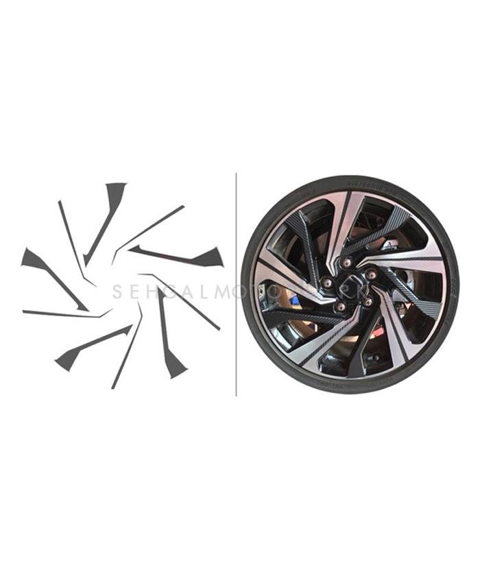 Buy Honda Civic 3d Rim Sticker 16 Inches Black Model