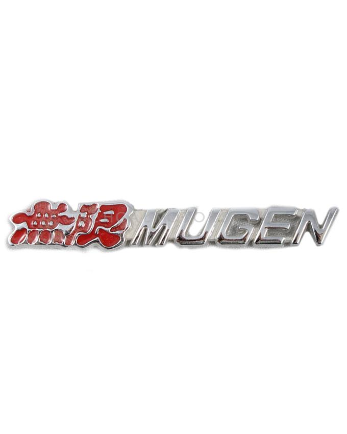 Mugen Metal Logo - Red and Silver-SehgalMotors.Pk