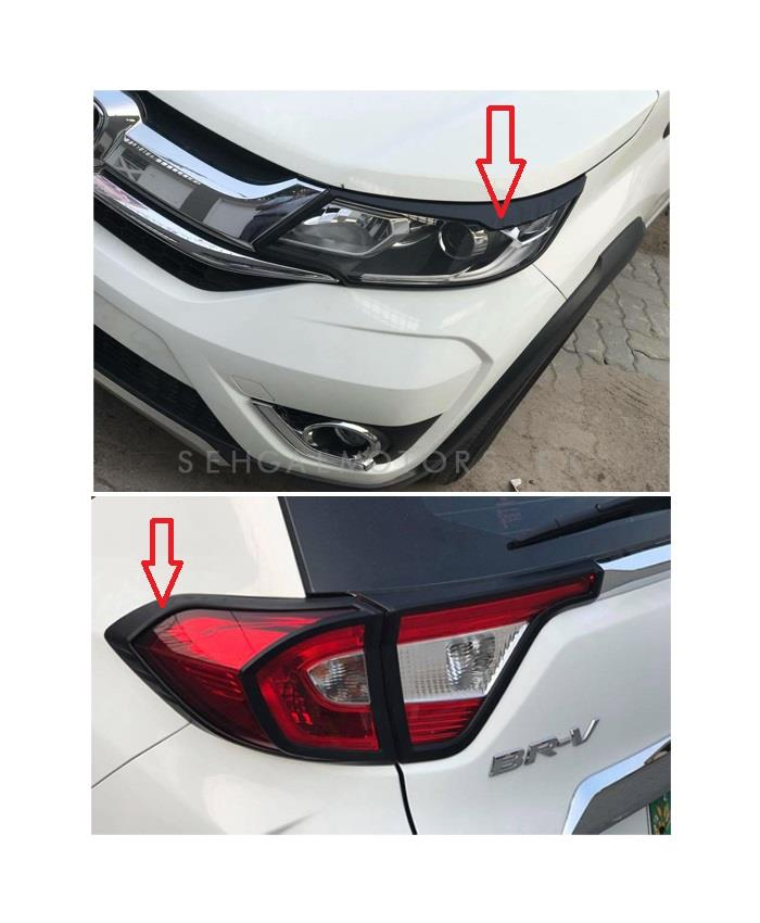 Honda BRV Headlight / Head Lamp and Back lights Frame Black Color 4 Pieces - Model 2017-2019 -SehgalMotors.Pk