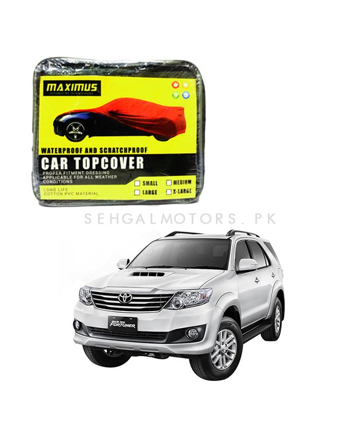Toyota Fortuner Maximus Non Woven Car Top Cover – Model 2013-2016-SehgalMotors.Pk