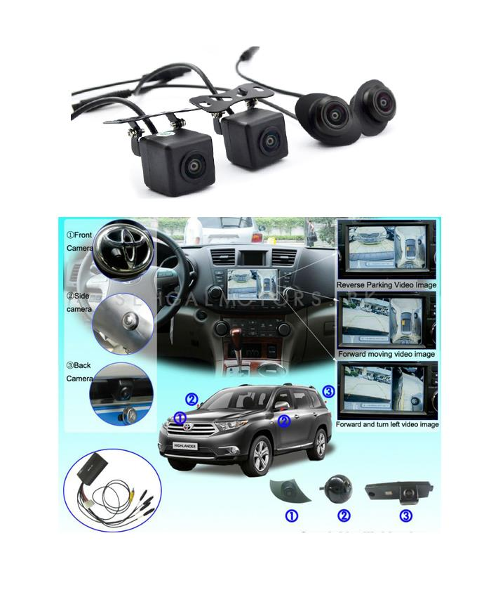 360 Degree Security Cameras 4 Pieces | Car Parking Camera | Security Camera | Front back Guide Line Parking Backup Camera-SehgalMotors.Pk