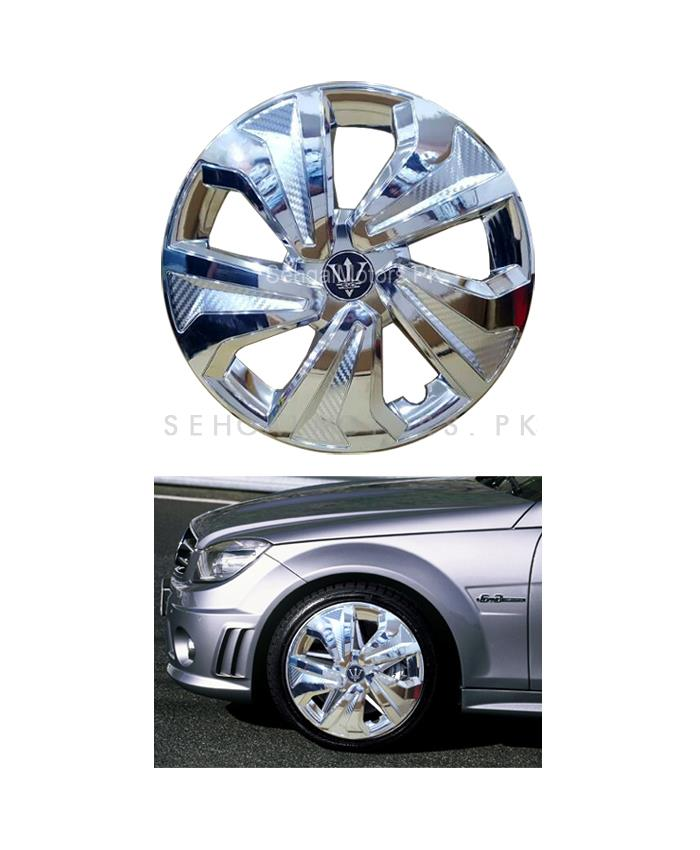 Wheel Cover ABS Chrome 12 inches - WK0-6CR-12 | Tire Wheel Cover | Wheel Center Cover | Wheel Decoration Item-SehgalMotors.Pk