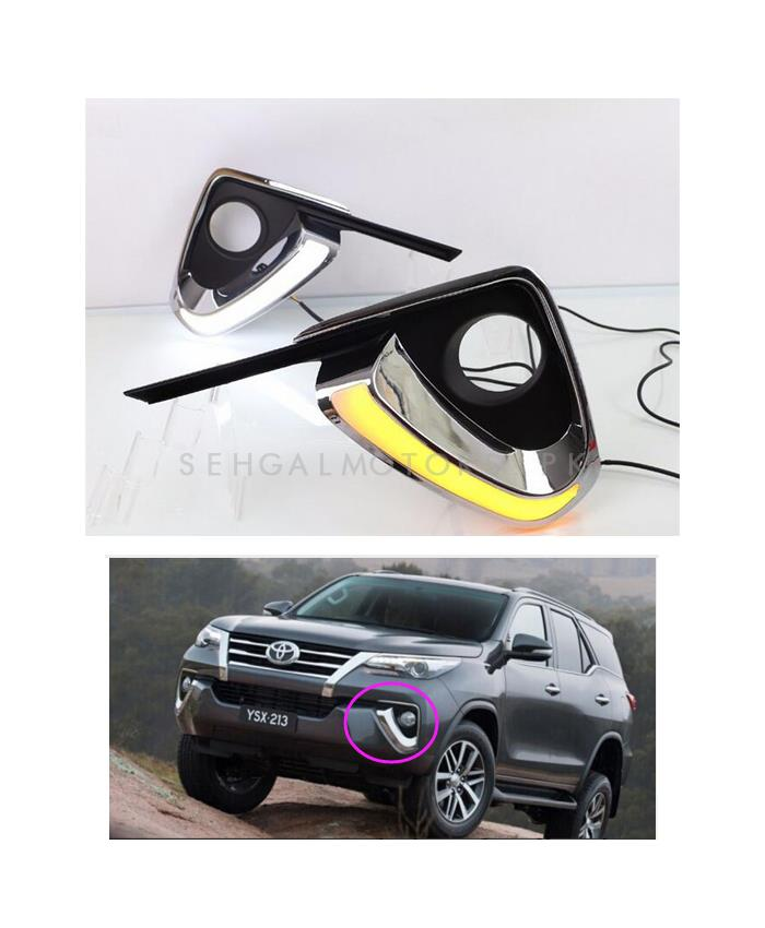 Toyota Fortuner Fog Lamps DRL Covers - 2016-2019-SehgalMotors.Pk
