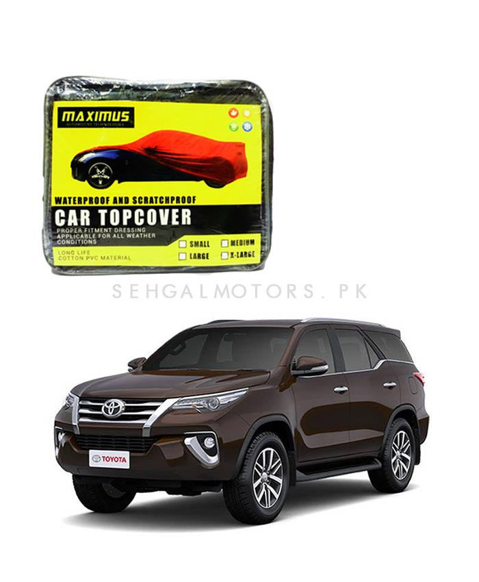 Toyota Fortuner Maximus Non Woven Scratchproof Waterproof Top Cover - Model 2016-2019-SehgalMotors.Pk