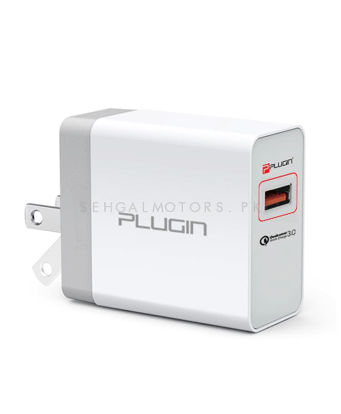 Plugin Surge QC USB Mobile Charger with Qualcomm 3.0 Port-SehgalMotors.Pk