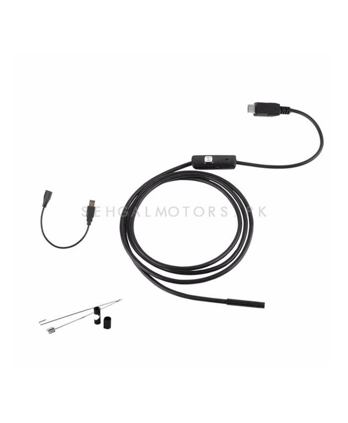 USB Endoscope Camera - 2.5 M Waterproof Inspection Snake Tube Video Display on Mobile-SehgalMotors.Pk