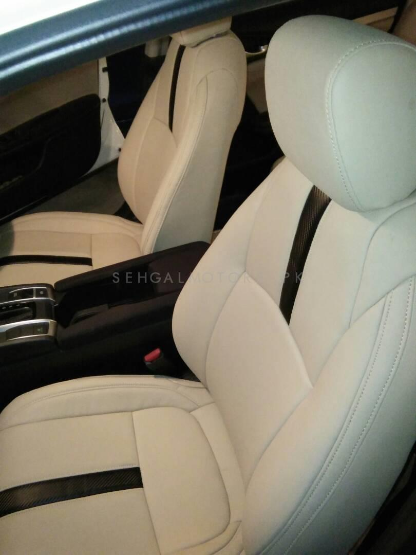 Buy Honda Civic Seat Covers Beige with Single Black Line - Model 2016-2017 in Pakistan