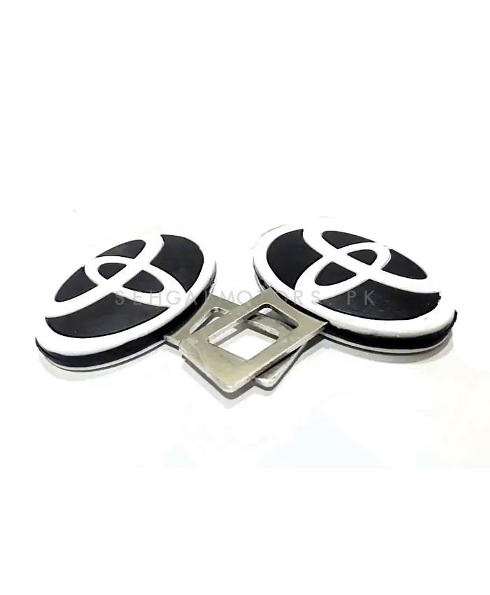 Toyota Seat Belt Clips Black and White-SehgalMotors.Pk