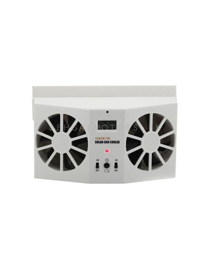 Buy Double Solar Powered Heat Ventilation Exhaust Fan