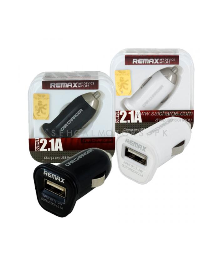 Buy Remax USB Car Charger 1 Port Black - 2 1A in Pakistan