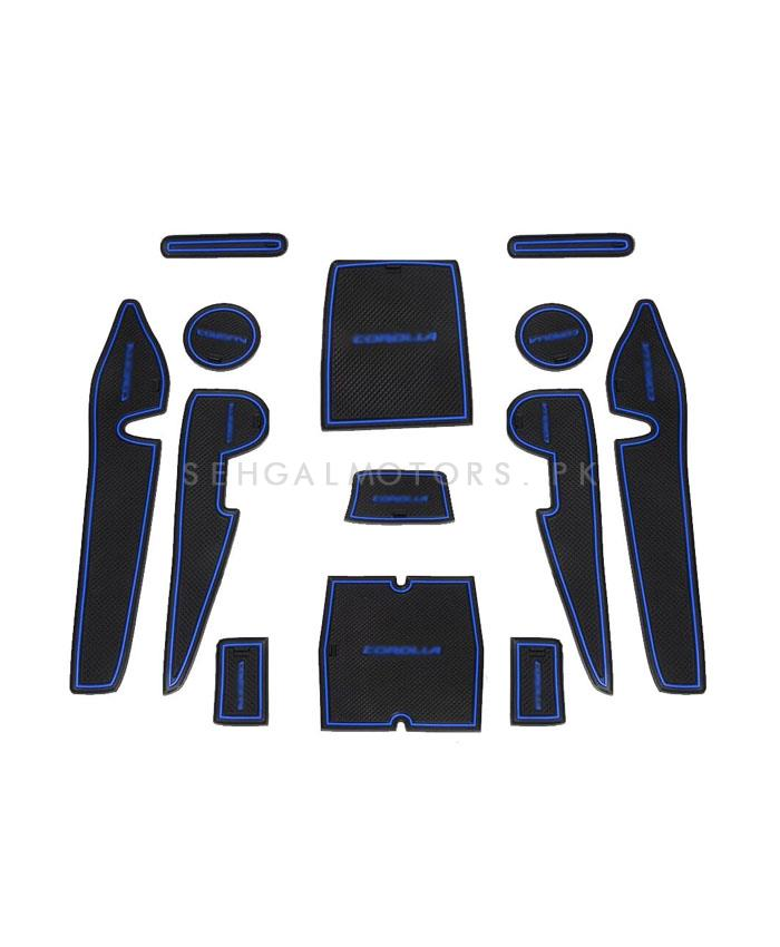 Buy Toyota Corolla Pvc Interior Dash Mats Blue Model