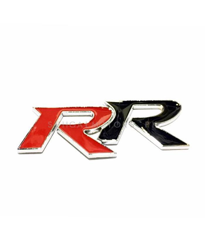 RR Metal Monogram Red and Black-SehgalMotors.Pk