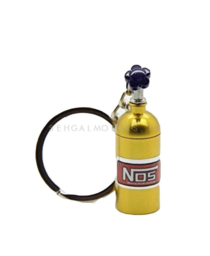 Nos Can Key Chain - Golden-SehgalMotors.Pk