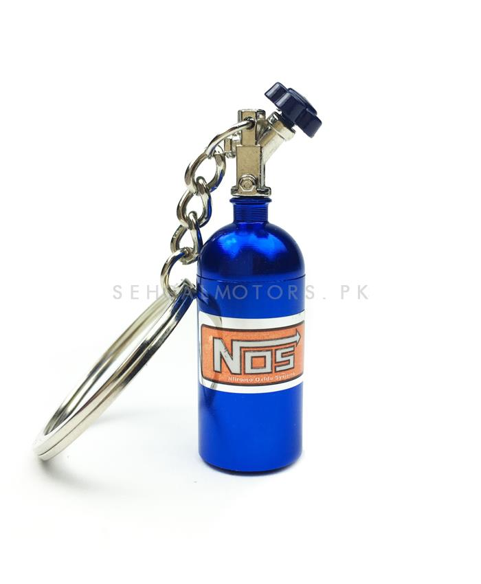 Nos Can Key Chain - Blue-SehgalMotors.Pk