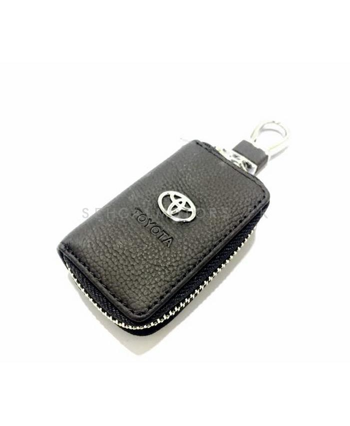 Toyota Zipper Leather Key Chain-SehgalMotors.Pk