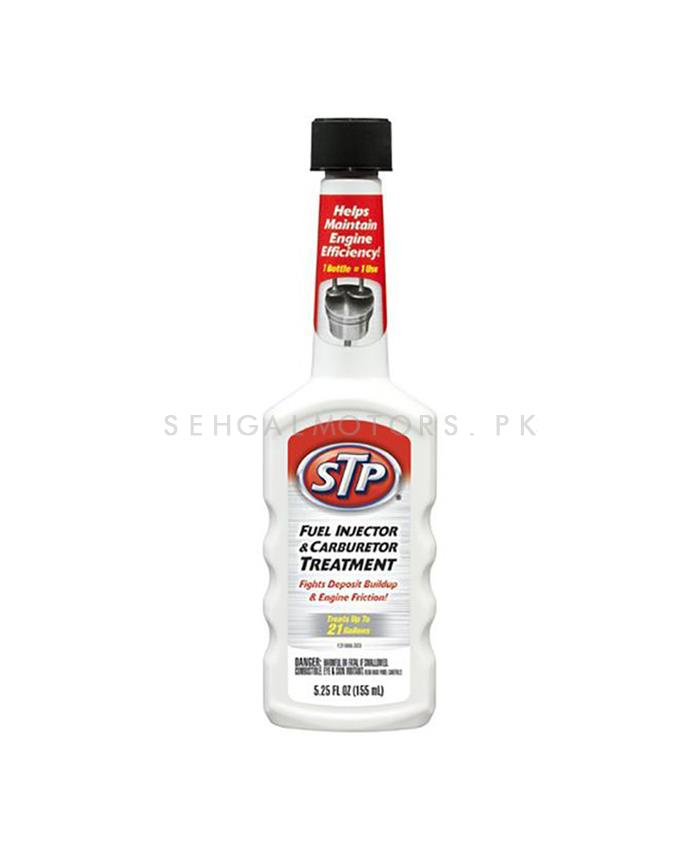 STP Fuel Injector & Carburetor Treatment - 5.25 Oz | To Keep The Engine Working | Cleaning Agent Restore Performance | Increase Power Oil Fuel Additive-SehgalMotors.Pk