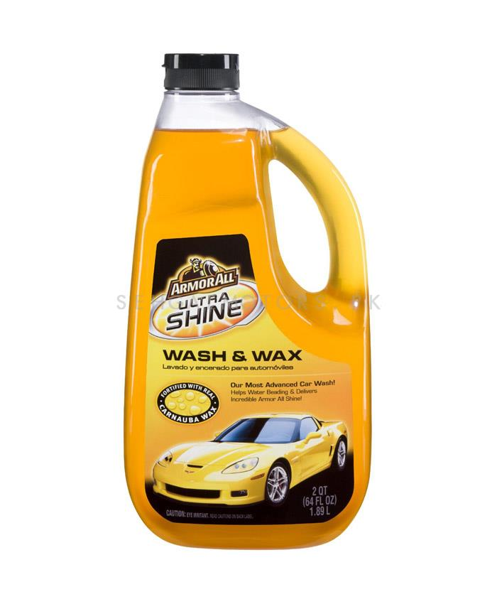 Armor All Ultra Shine Wash and Wax - 64oz  | Car Shampoo | Car Cleaning Agent | Car Care Product | 2 in 1 Product | Glossy Touch Shampoo | Mirror Like Shine-SehgalMotors.Pk