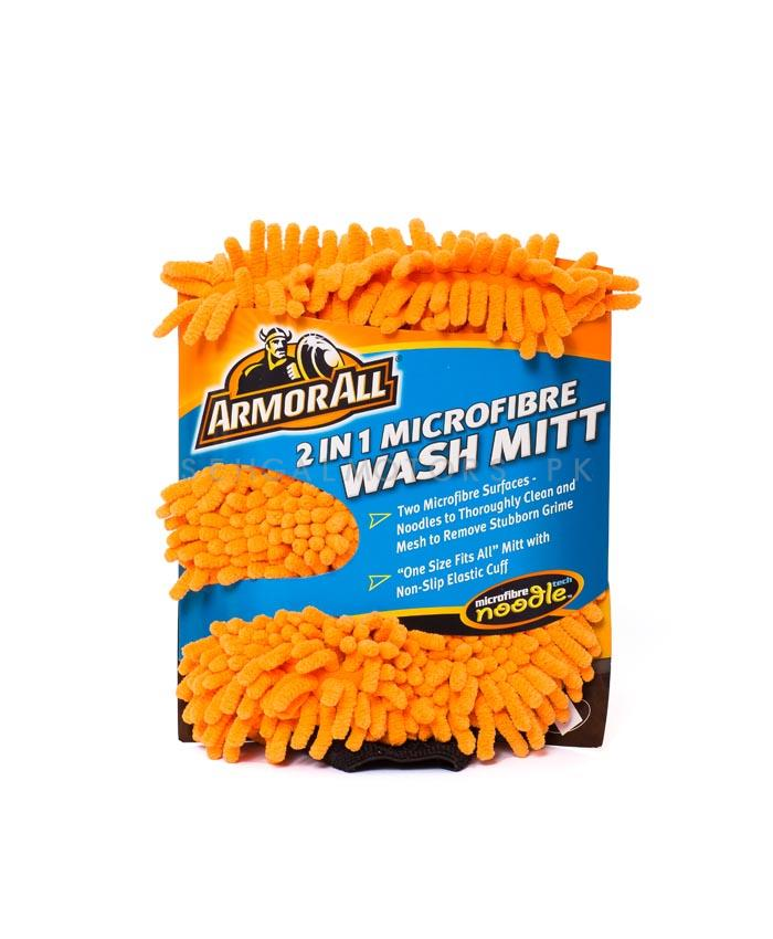 Armor All 2 in 1 Microfiber Noodle Wash Mitt | Microfiber Car Wash Sponge | Noodle Washmitt | Super Long Pile Microfiber-SehgalMotors.Pk