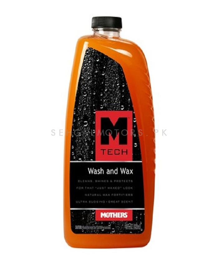 Mothers M-Tech Wash & Wax - 48oz | Car Shampoo | Car Cleaning Agent | Car Care Product | 2 in 1 Product | Glossy Touch Shampoo | Mirror Like Shine-SehgalMotors.Pk