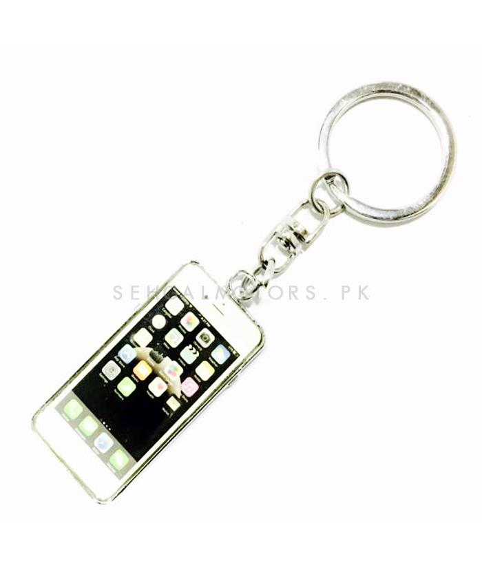 Special Iphone Style Silver Key Chain / Key Ring-SehgalMotors.Pk