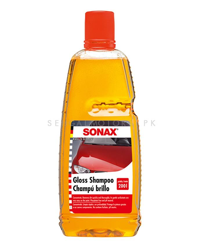 Sonax Gloss Shampoo - 1000ML | Car Shampoo | Car Cleaning Agent | Car Care Product | Glossy Touch Shampoo | Mirror Like Shine-SehgalMotors.Pk