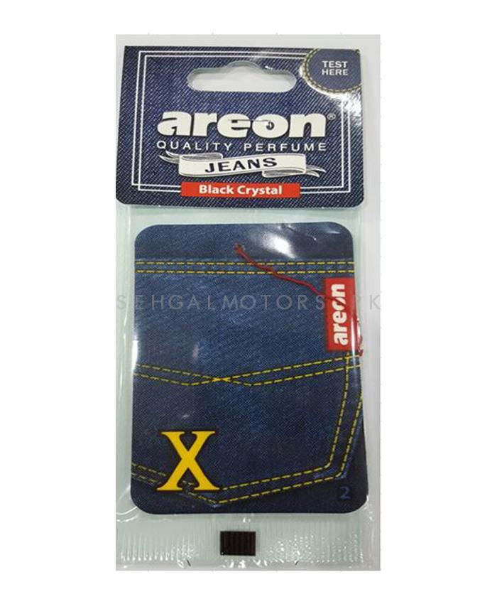 Areon Jeans Card Black Crystal Car Perfume Fragrance Air Freshener -SehgalMotors.Pk