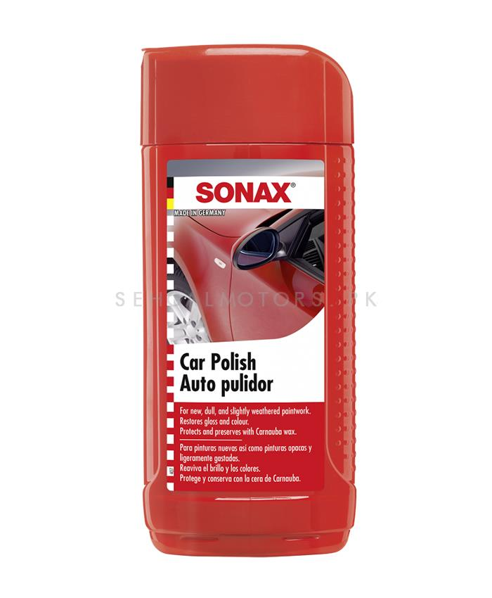 Sonax Car Polish - 500 ML | Wax for Cars | Car Wax Polish | Car Polish | Polishing Wax Cream | Super Hydrophobic | Paint Care Cleaning Coating Film Agent | Liquid Polish | Best Wax | Car Care Product | Best Polish | Car Cleaning Agent | Polish For Car Body | Easy Operation For Caring And Maintenance Clean-SehgalMotors.Pk