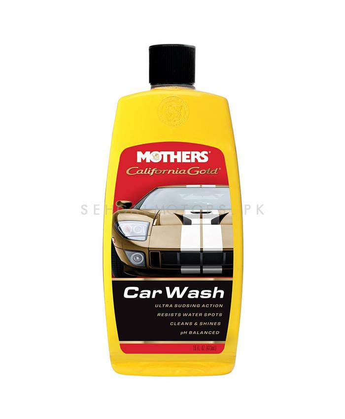 Mothers California Gold Car Wash - 16 OZ    Car Shampoo   Car Cleaning Agent   Car Care Product   Glossy Touch Shampoo   Mirror Like Shine-SehgalMotors.Pk