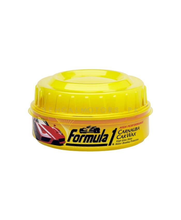 Formula 1 Carnauba Car Wax 340g -641672   Solid Car Wax Protection Waterproof   Polish For Car Body   Easy Operation For Caring And Maintenance Clean   Car Polishing Body Solid Waterproof Wax   Car Polish   Car Care Product   Car Wax   Coating Paste   Hydrophobic-SehgalMotors.Pk