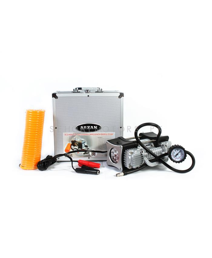 2 Cylinder Air Compressor with LED-SehgalMotors.Pk