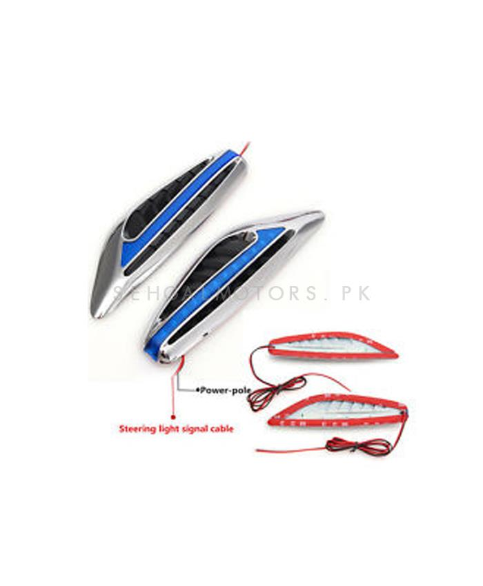 Side Fender Indicator Ferrari Style - Blue-SehgalMotors.Pk