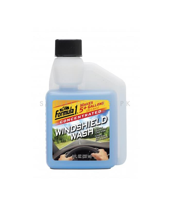 Formula 1 Windshield Wash 237ML | Glass Cleaner | Protect Windshield | WIndshield Cleaner | Windshield Glass Water | Windshield Washer Fluid-SehgalMotors.Pk