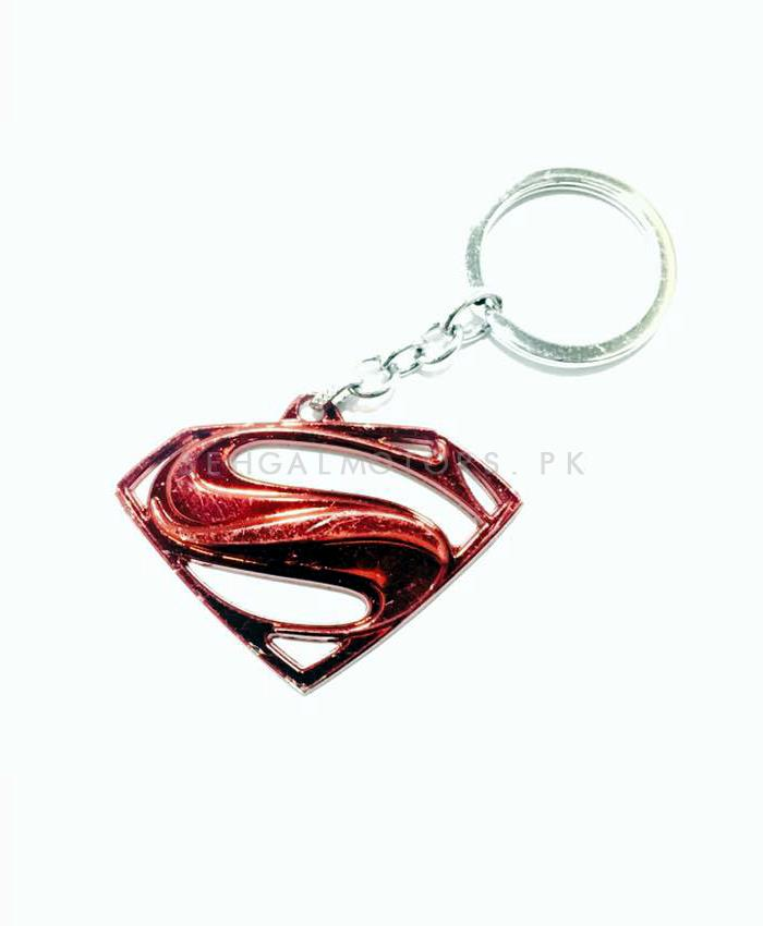 Super Man Key Chain Red-SehgalMotors.Pk