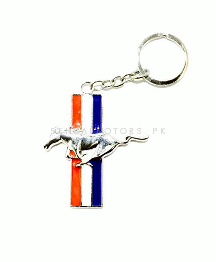 Mustang Key Chain / Key Ring - Silver | Key Chain Ring For Keys | New Fashion Creative Novelty Gift Keychains-SehgalMotors.Pk