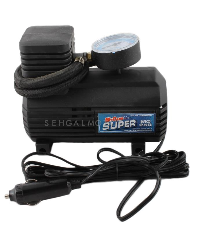 Single Cylinder Air Compressor 12v Tire / Tyre Inflator Mini Compact Size-SehgalMotors.Pk