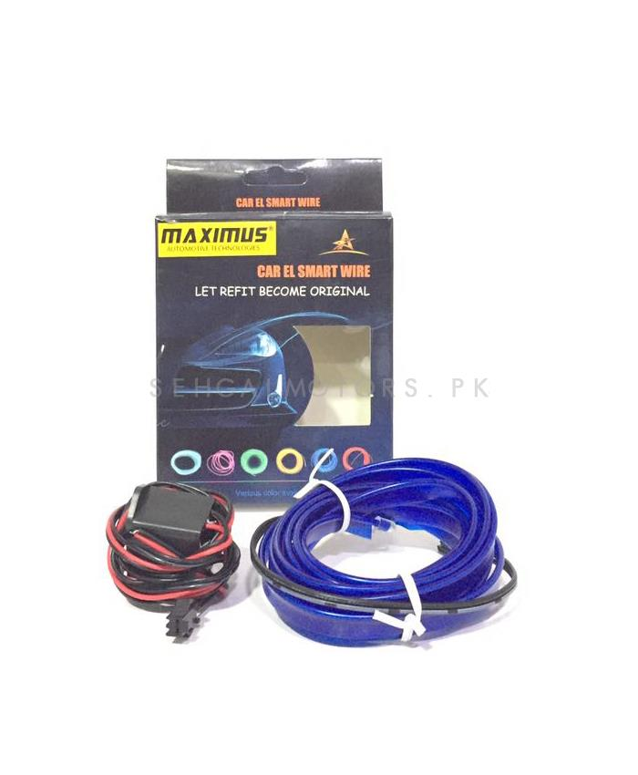 Maximus EL Glow Wire for Interior  / Dashboard LED Light  2Meters (6ft) - Blue-SehgalMotors.Pk