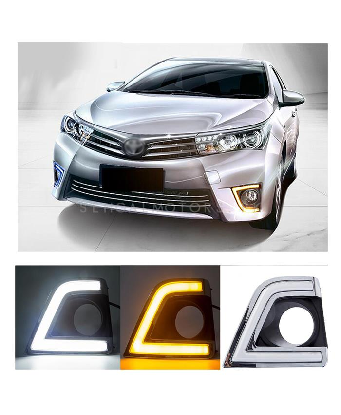 Toyota Corolla Smd Cob Drl Covers   Model 2014 2017 SehgalMotors.Pk