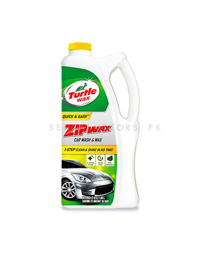 Turtle Zip Wax Shampoo - 1,89 L | Car Shampoo | Car Cleaning Agent | Car Care Product | Glossy Touch Shampoo | Mirror Like Shine-SehgalMotors.Pk