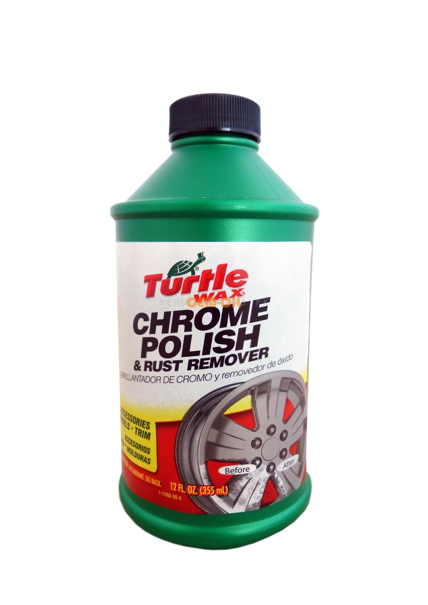 Turtle T280 Chrome Polish | Rust Remover For Chromium Plated Part | Chrome Cleaner | Cleaning Brightener Renovation Chrome Plating Retreading Agent | Chrome Cleaner Product | Chrome Polish -SehgalMotors.Pk