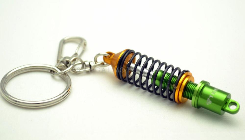 Tein Coil Over Green Metal Key Chain / Key Ring-SehgalMotors.Pk